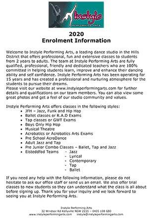 2020 Enrolment Info